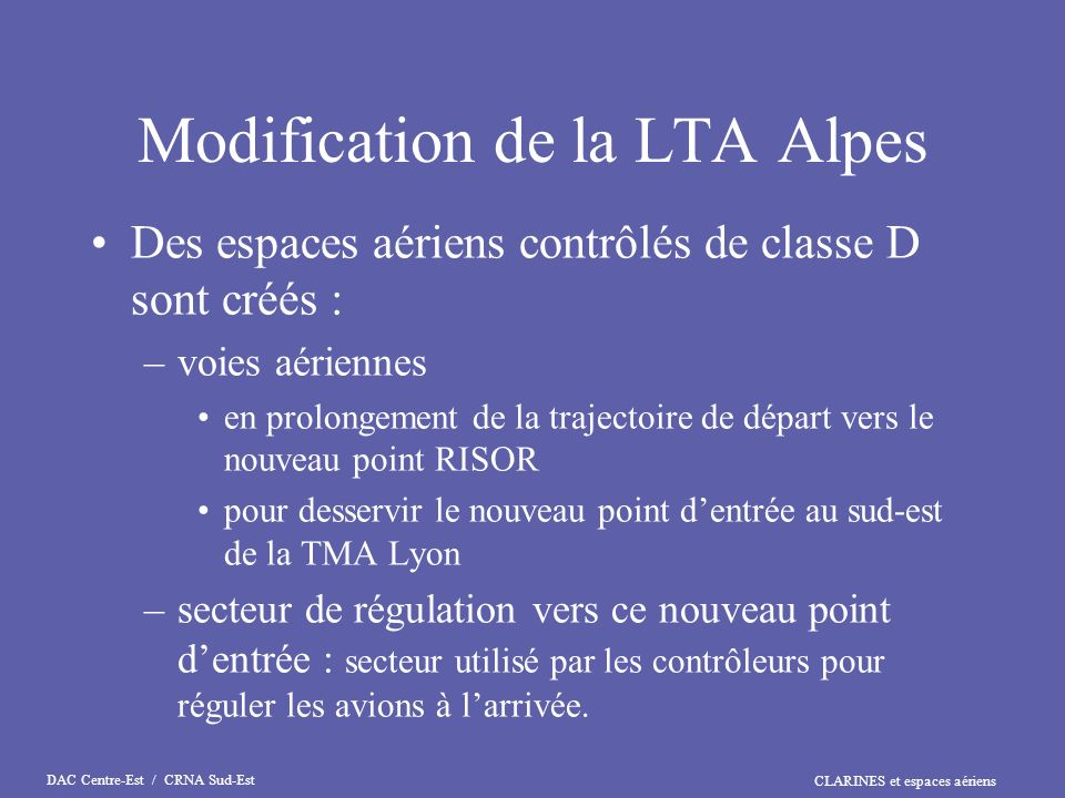 Modification de la LTA Alpes