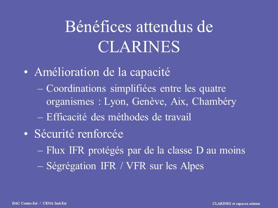 Bénéfices attendus de CLARINES