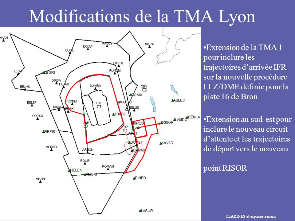Modifications de la TMA Lyon