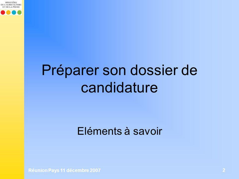 Préparer son dossier de candidature