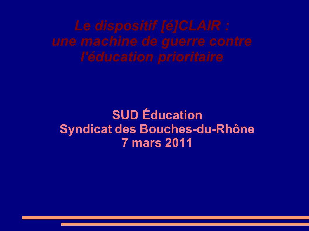 SUD Éducation Syndicat des Bouches-du-Rhône 7 mars 2011