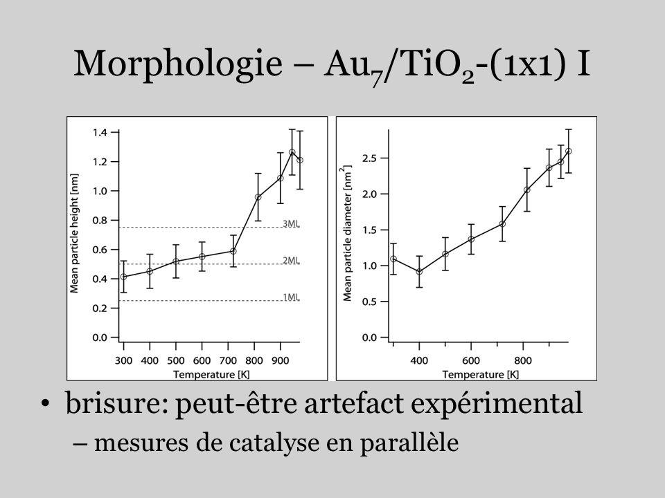 Morphologie – Au7/TiO2-(1x1) I