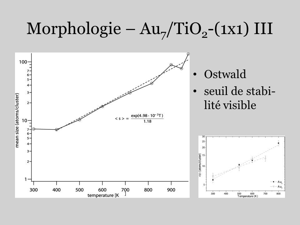 Morphologie – Au7/TiO2-(1x1) III
