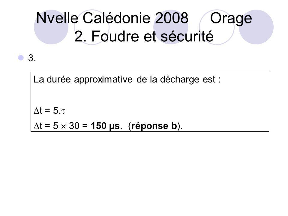 Nvelle Calédonie 2008 Orage 2. Foudre et sécurité