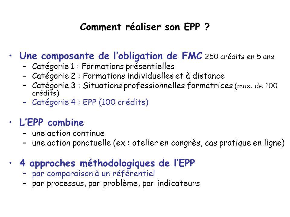 Comment réaliser son EPP