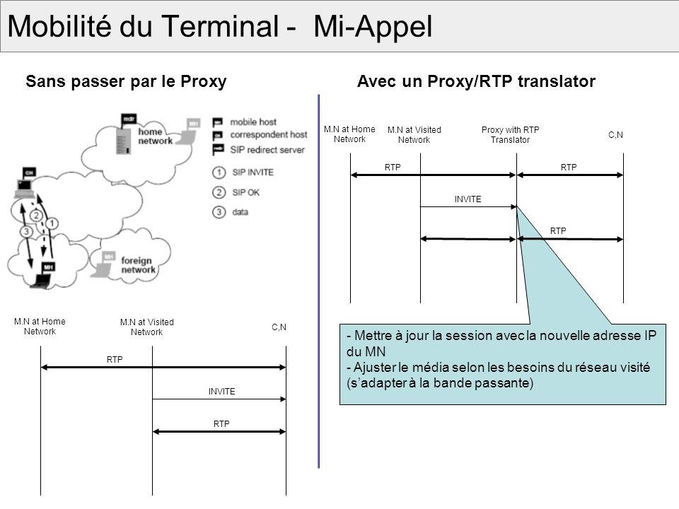 Mobilité du Terminal - Mi-Appel