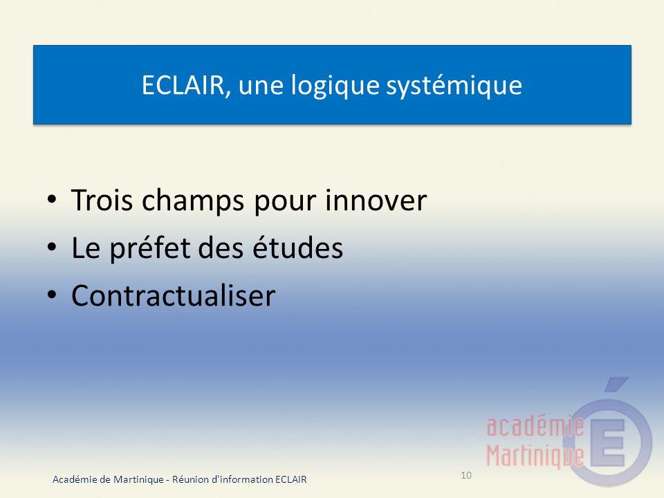 ECLAIR, une logique systémique