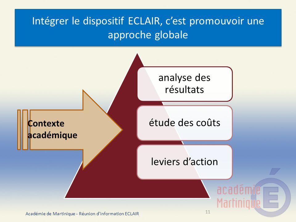 Intégrer le dispositif ECLAIR, c'est promouvoir une approche globale