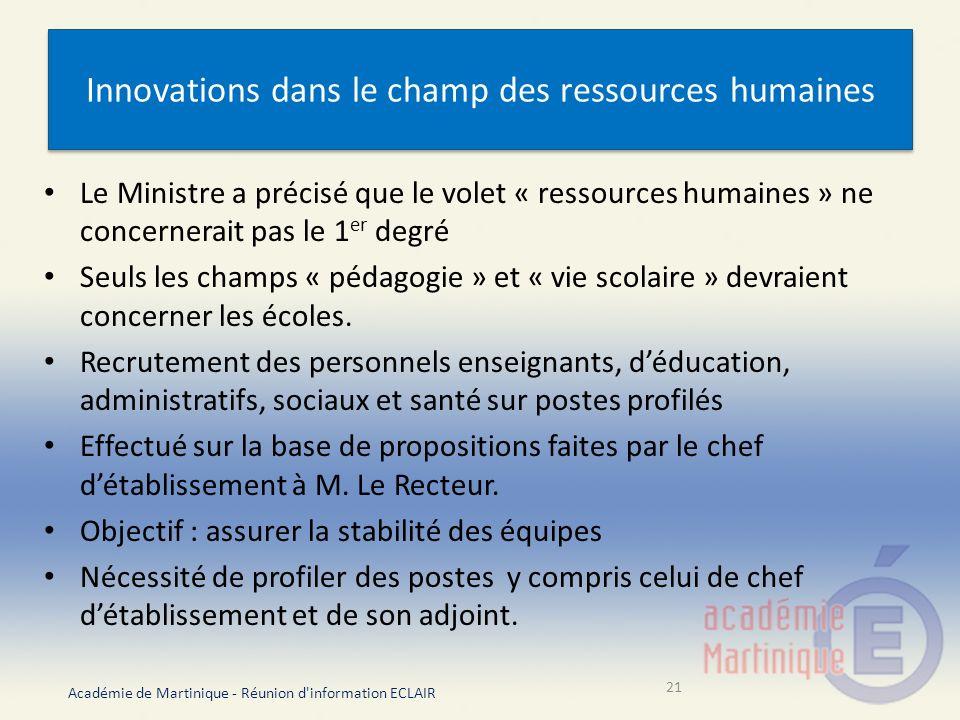 Innovations dans le champ des ressources humaines