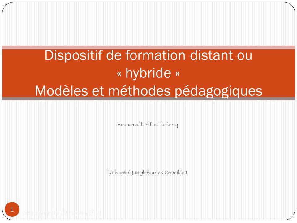 Emmanuelle Villiot-Leclercq Université Joseph Fourier, Grenoble 1