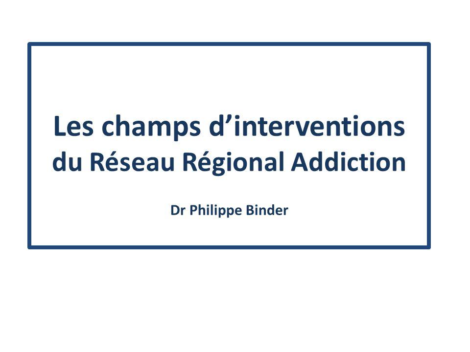 Les champs d'interventions du Réseau Régional Addiction Dr Philippe Binder