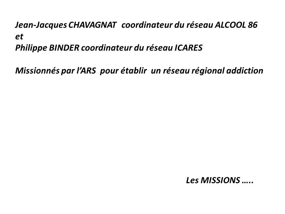 Jean-Jacques CHAVAGNAT coordinateur du réseau ALCOOL 86 et Philippe BINDER coordinateur du réseau ICARES Missionnés par l'ARS pour établir un réseau régional addiction