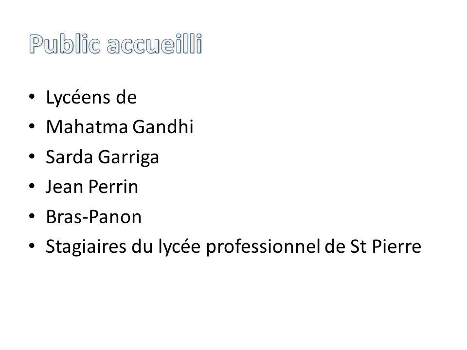 Public accueilli Lycéens de Mahatma Gandhi Sarda Garriga Jean Perrin