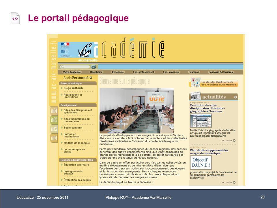 Le portail pédagogique