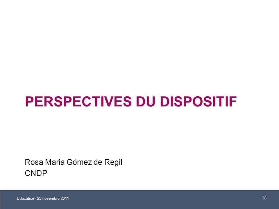 Perspectives du dispositif