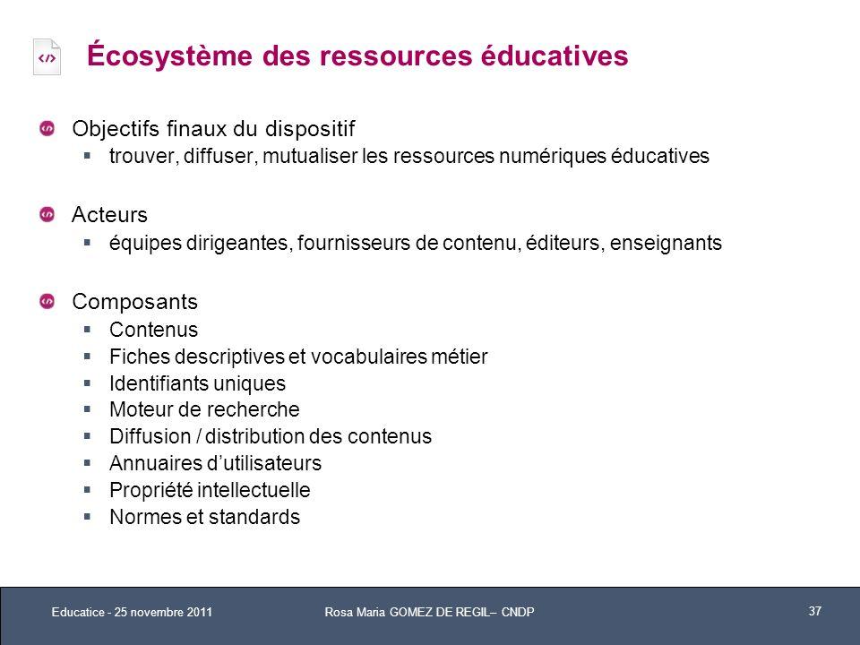 Écosystème des ressources éducatives