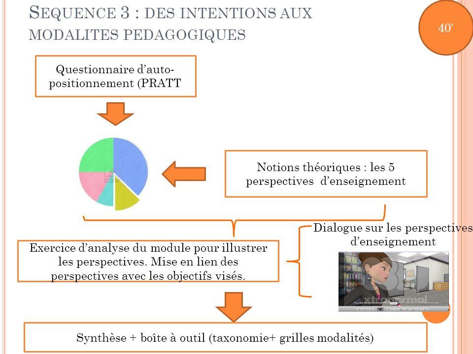 Sequence 3 : des intentions aux modalites pedagogiques