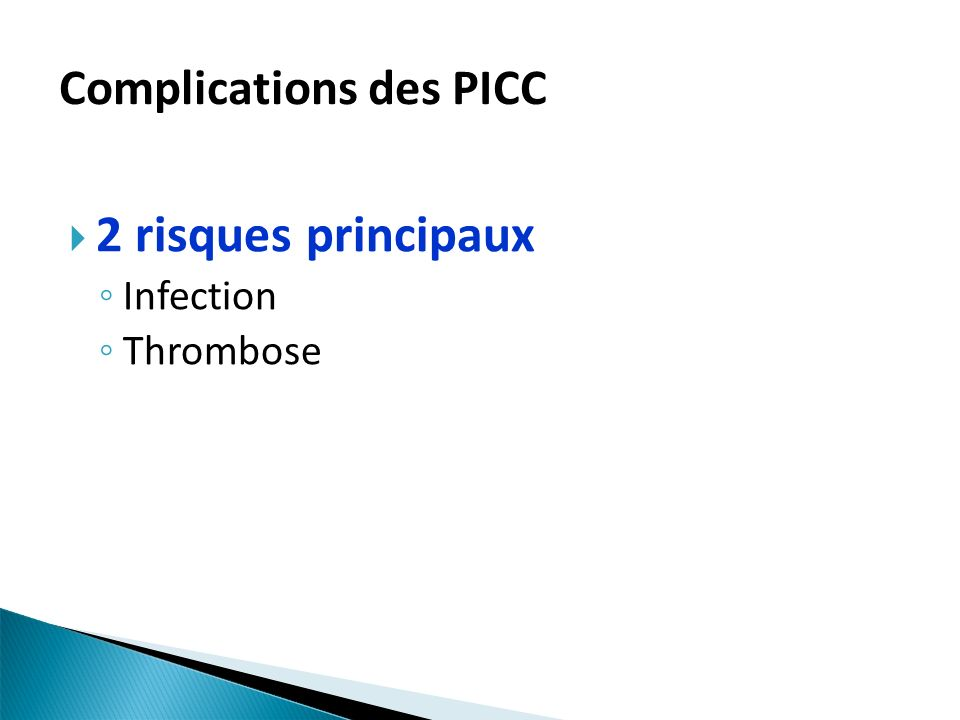 Complications des PICC