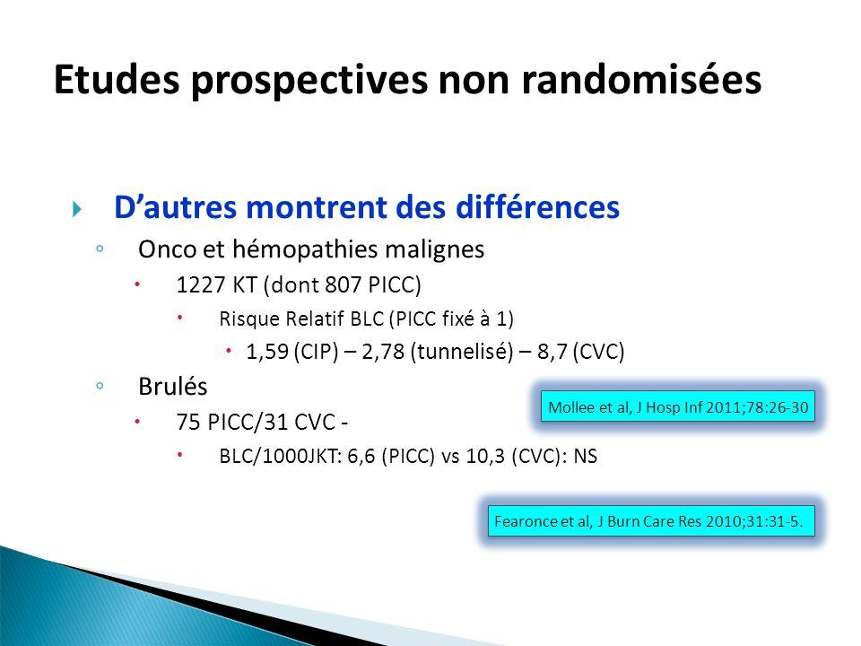 Etudes prospectives non randomisées