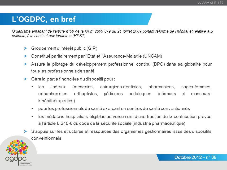 L'OGDPC, en bref Groupement d'intérêt public (GIP)