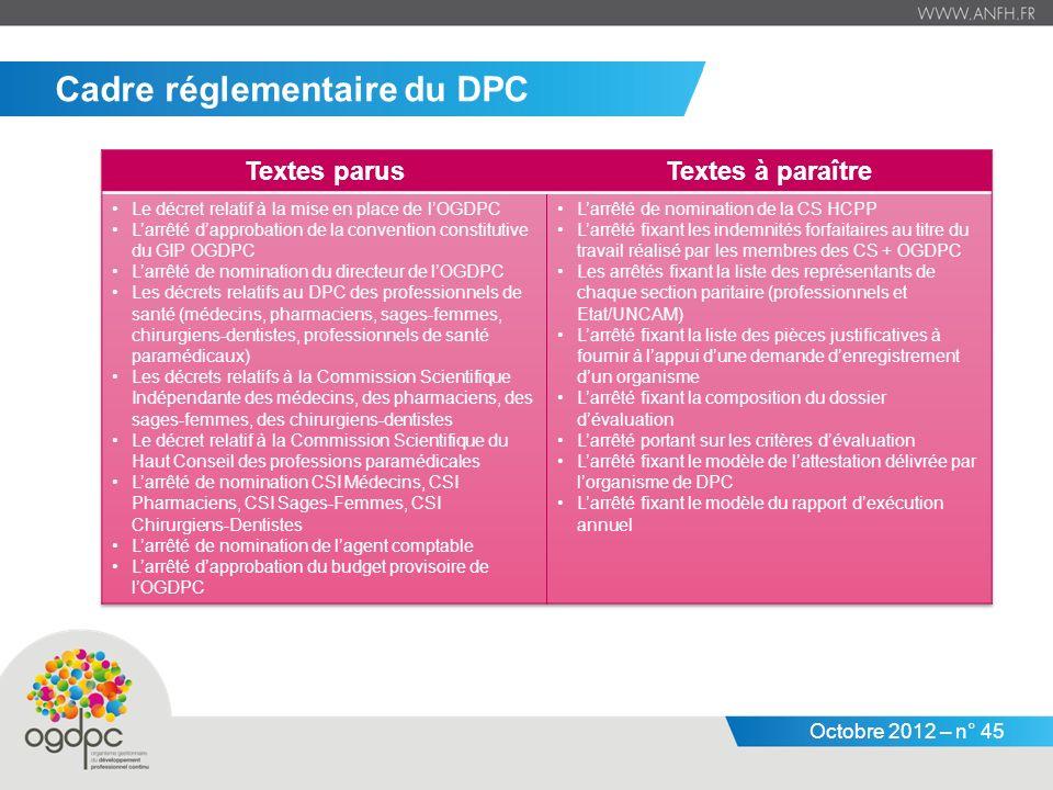 Cadre réglementaire du DPC
