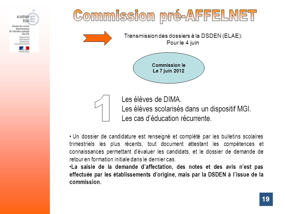 Commission pré-AFFELNET