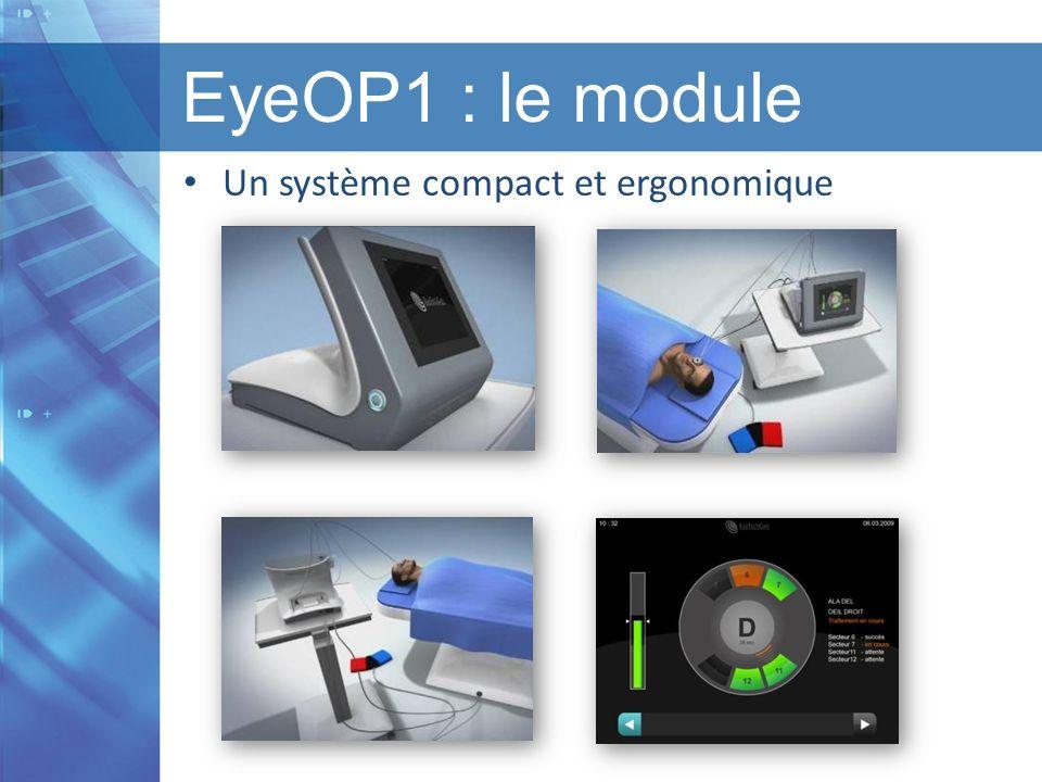 EyeOP1 : le module Un système compact et ergonomique