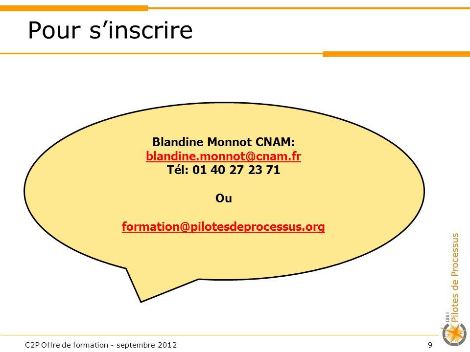 Blandine Monnot CNAM: blandine.monnot@cnam.fr