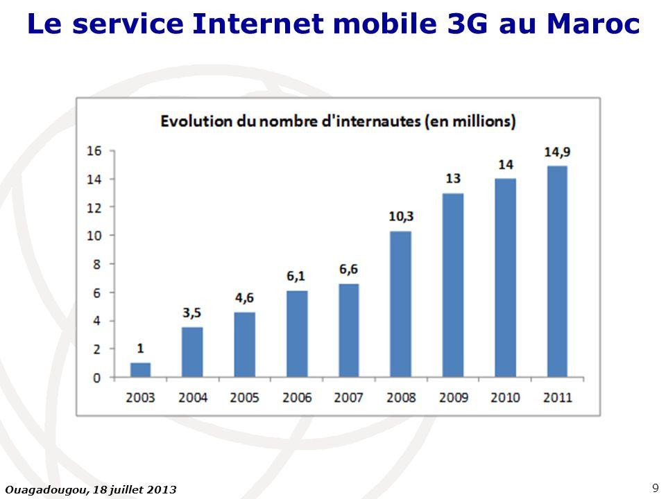 Le service Internet mobile 3G au Maroc