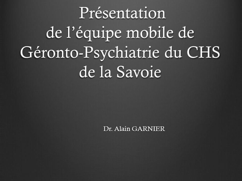 Présentation de l'équipe mobile de Géronto-Psychiatrie du CHS de la Savoie