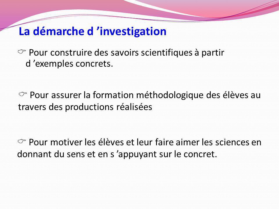 La démarche d 'investigation