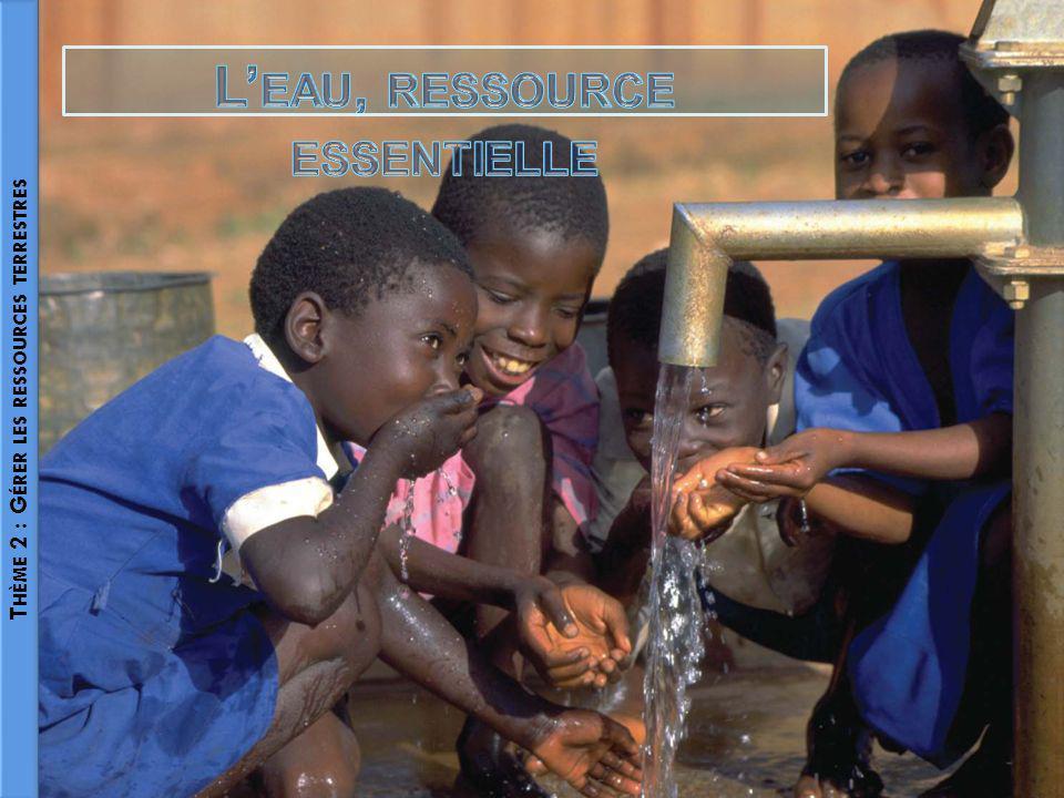 L'eau, ressource essentielle Thème 2 : Gérer les ressources terrestres