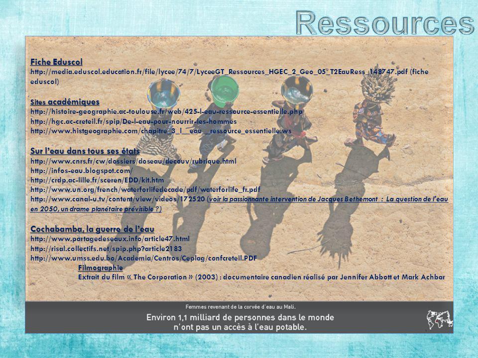 Ressources Fiche Eduscol Sur l'eau dans tous ses états