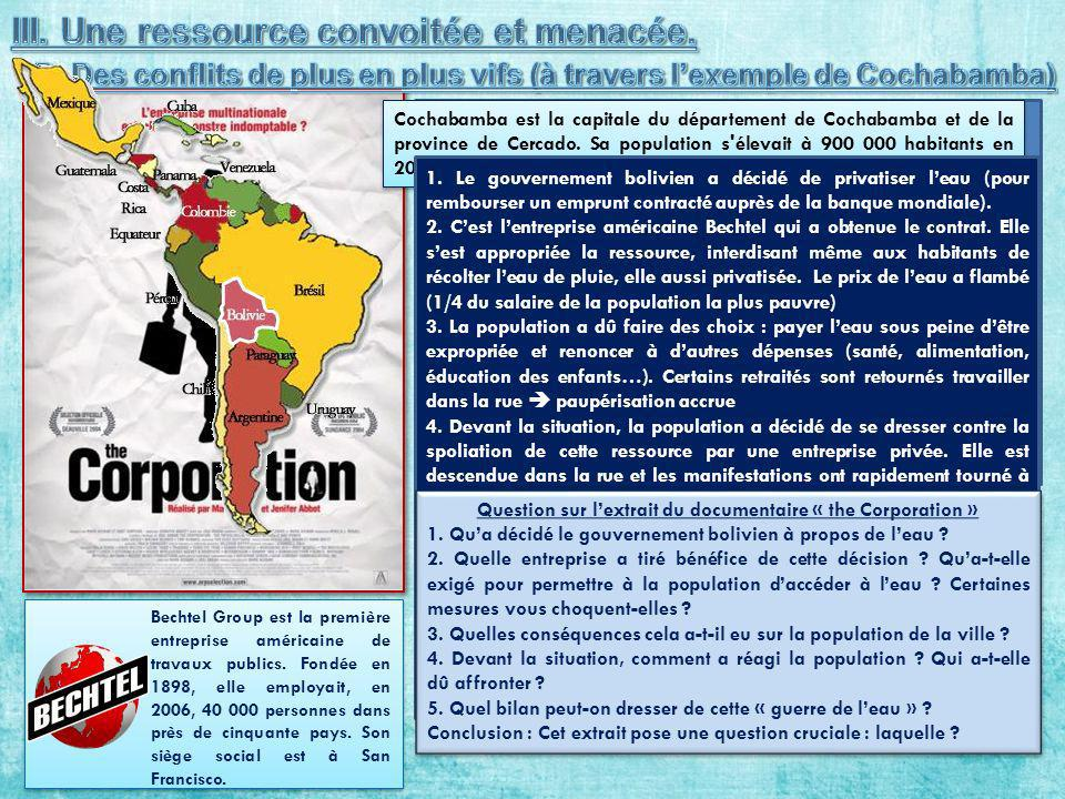 Question sur l'extrait du documentaire « the Corporation »