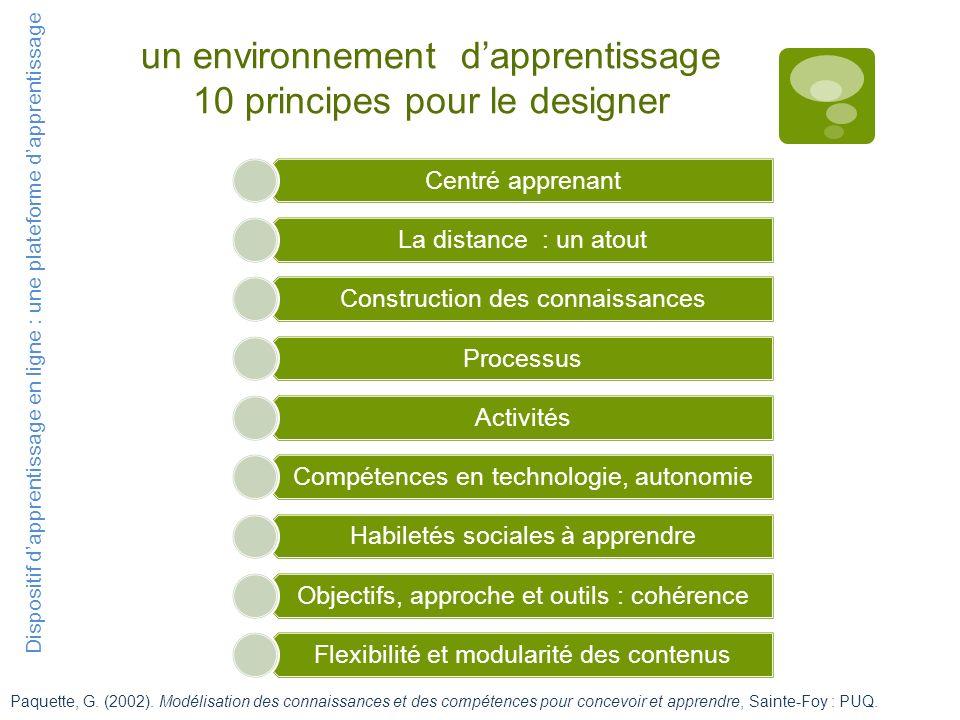 un environnement d'apprentissage 10 principes pour le designer