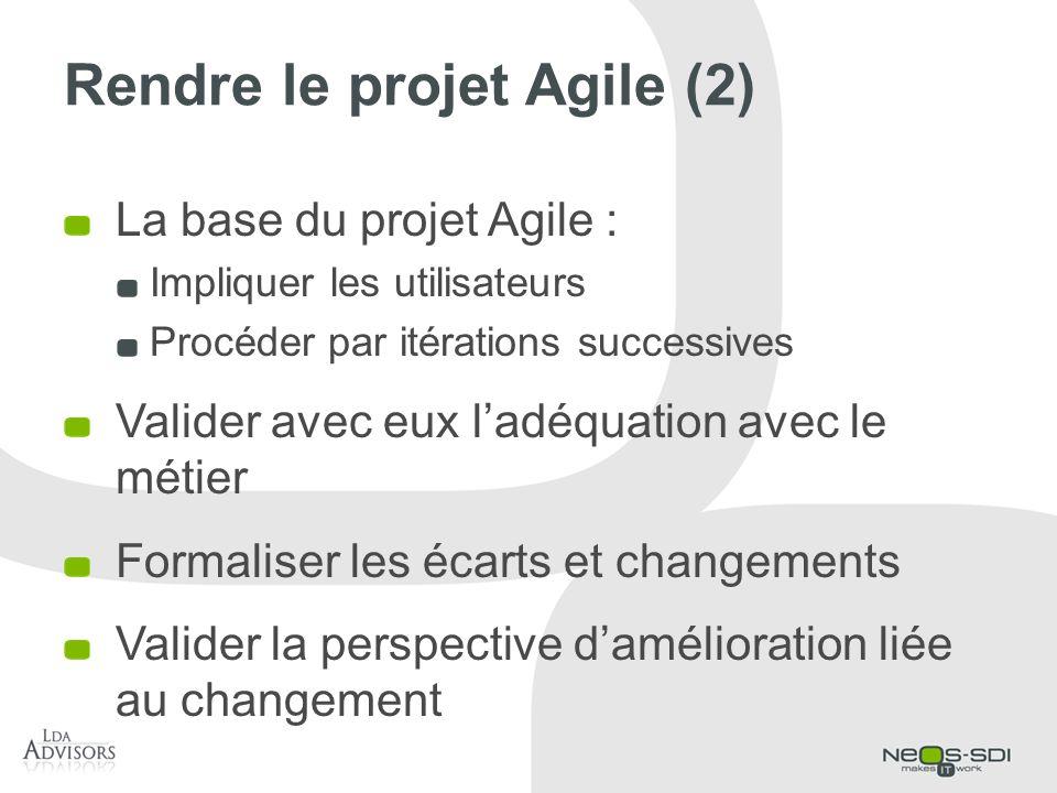 Rendre le projet Agile (2)
