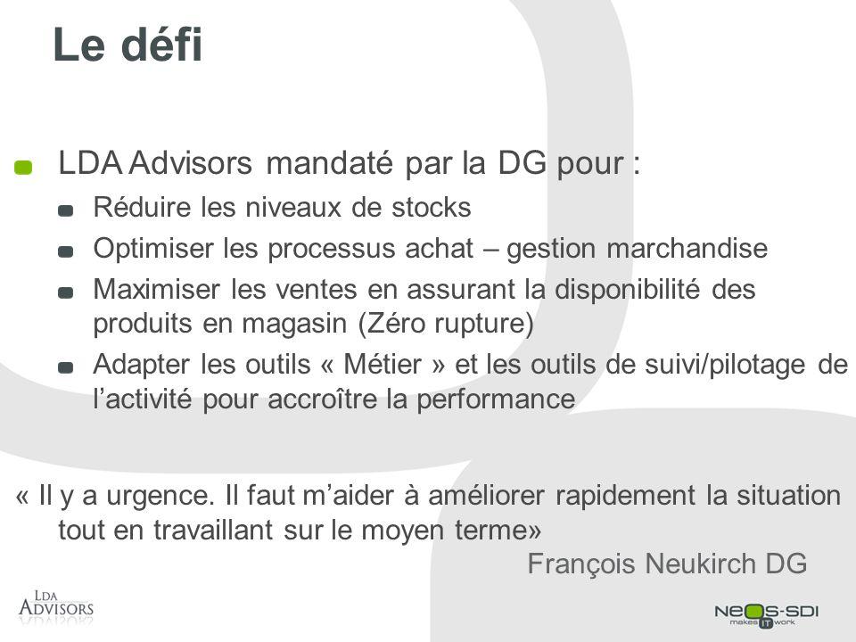 Le défi LDA Advisors mandaté par la DG pour :