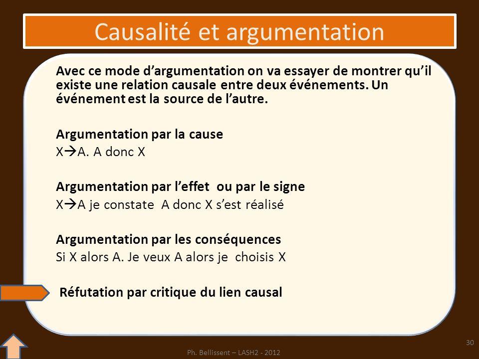 Causalité et argumentation