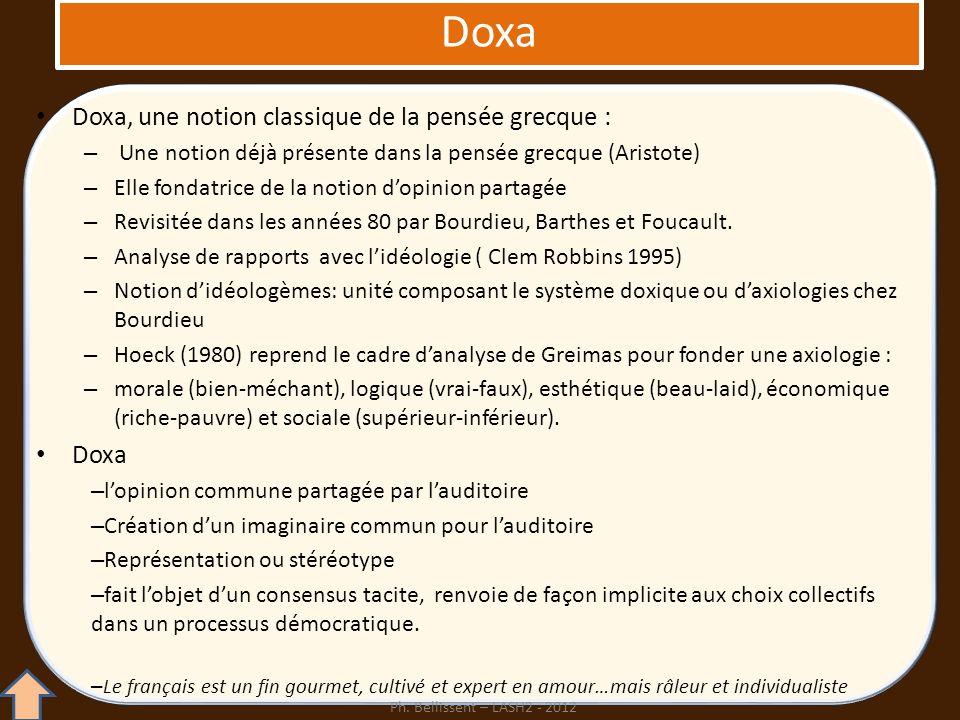 Doxa Doxa, une notion classique de la pensée grecque : Doxa