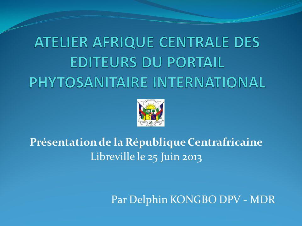 Présentation de la République Centrafricaine