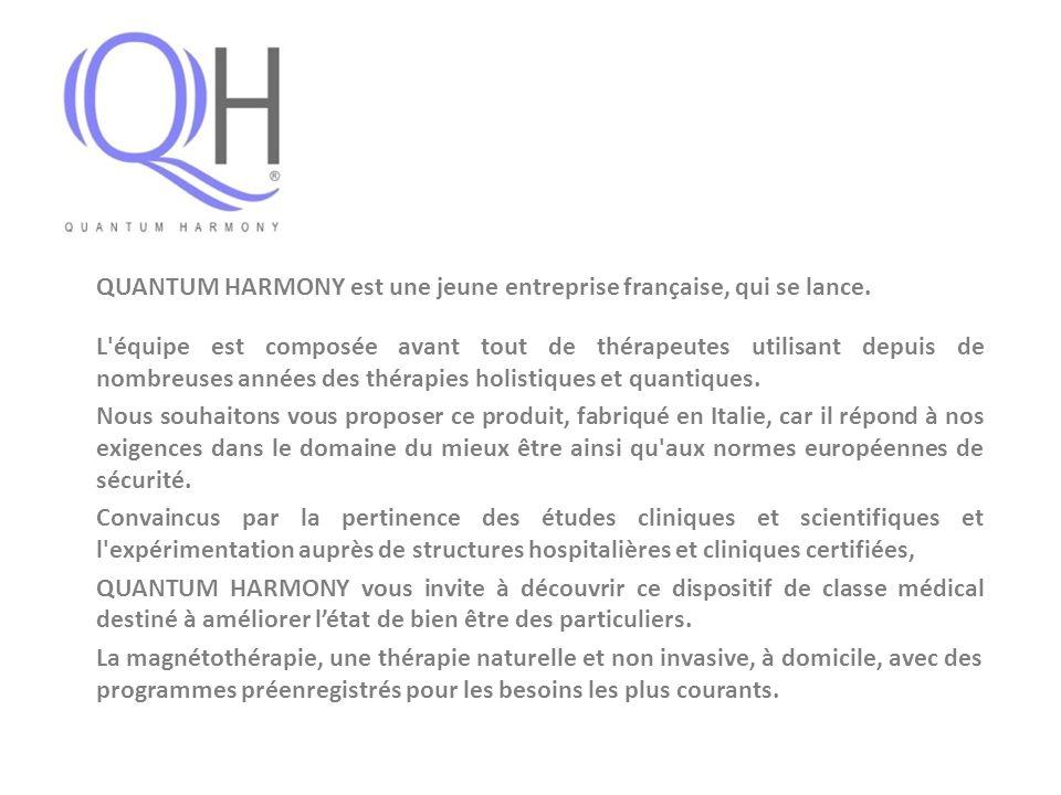 QUANTUM HARMONY est une jeune entreprise française, qui se lance.