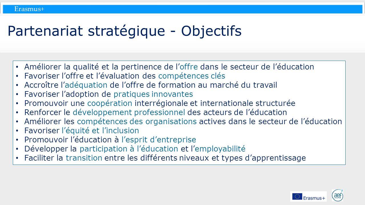 Partenariat stratégique - Objectifs