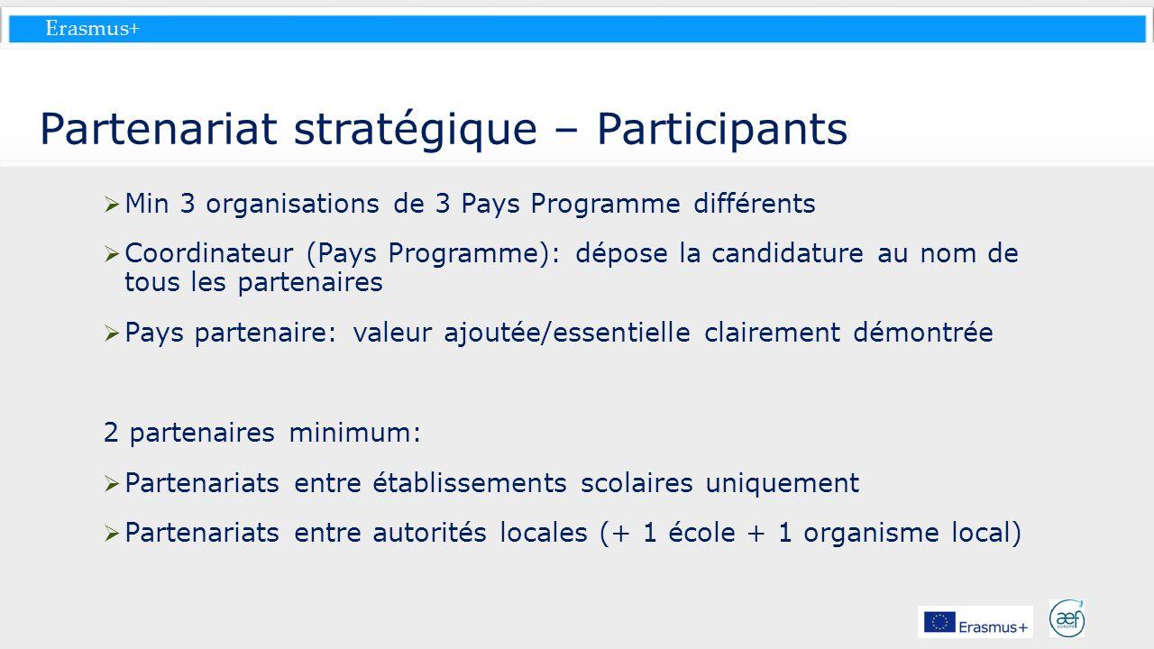 Partenariat stratégique – Participants