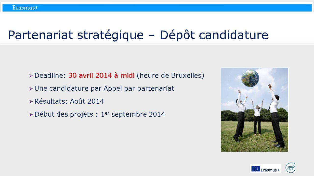 Partenariat stratégique – Dépôt candidature