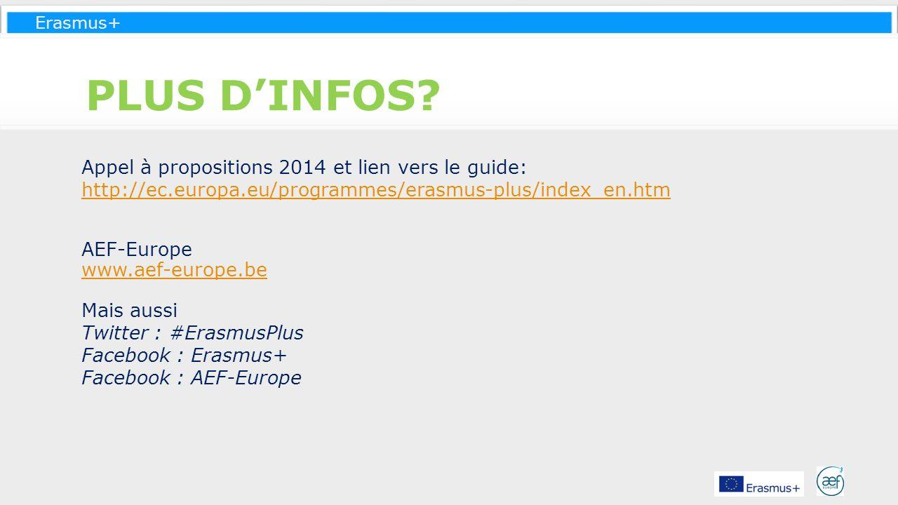PLUS D'INFOS Appel à propositions 2014 et lien vers le guide: