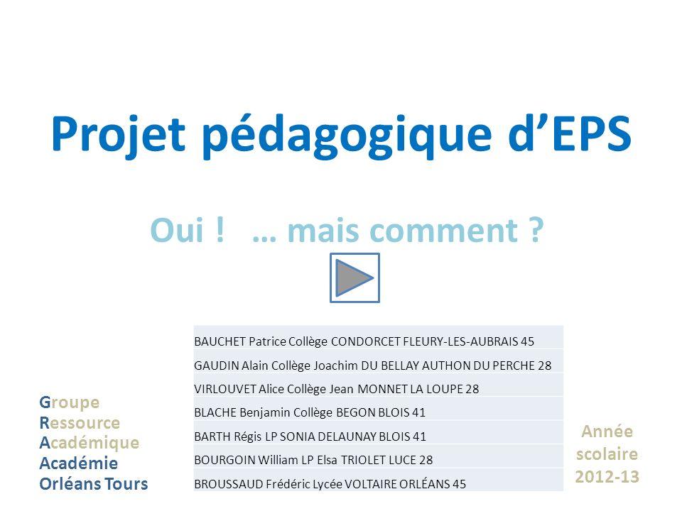 Projet pédagogique d'EPS