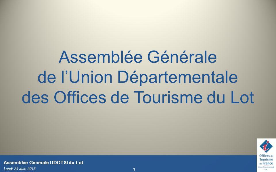 Assemblée Générale de l'Union Départementale des Offices de Tourisme du Lot