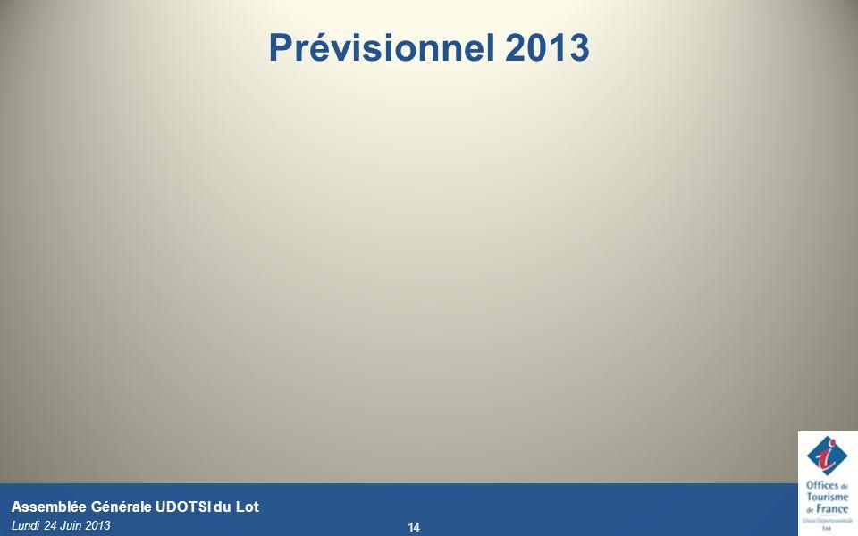 Prévisionnel 2013 Validé en CA du 15/04/11