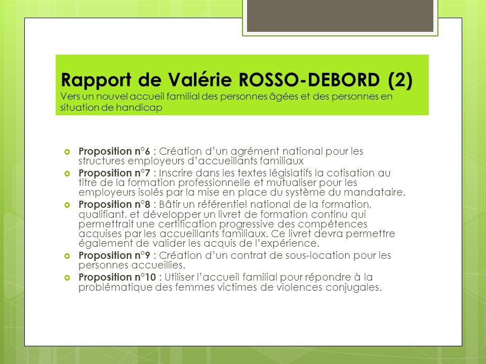 Rapport de Valérie ROSSO-DEBORD (2) Vers un nouvel accueil familial des personnes âgées et des personnes en situation de handicap