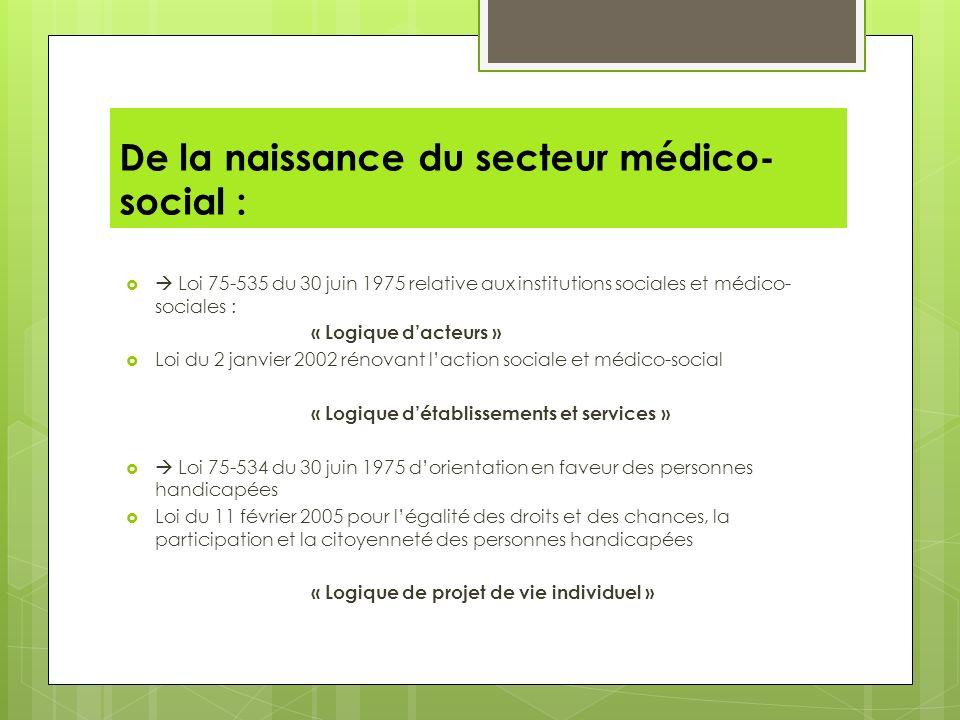 De la naissance du secteur médico-social :